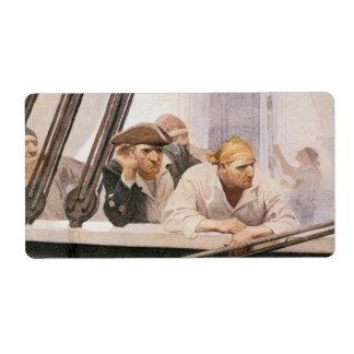 Vintage Pirates Brig Covenant in a Fog by NC Wyeth Custom Shipping Labels
