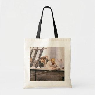 Vintage Pirates Brig Covenant in a Fog by NC Wyeth Tote Bag