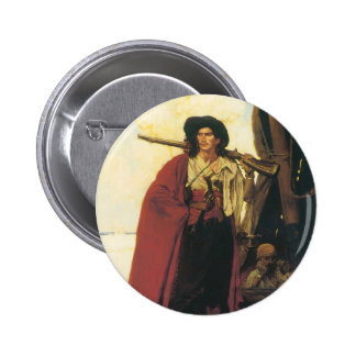 Vintage Pirates Buccaneer was a Picturesque Fellow 2 Inch Round Button