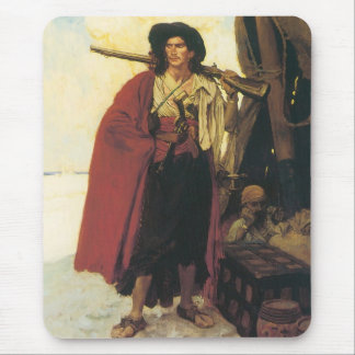 Vintage Pirates Buccaneer was a Picturesque Fellow Mouse Pad