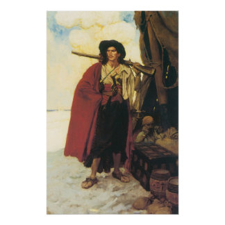 Vintage Pirates Buccaneer was a Picturesque Fellow Poster