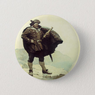 Vintage Pirates, Captain Bill Bones by NC Wyeth Button