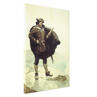 Vintage Pirates, Captain Bill Bones by NC Wyeth Gallery Wrapped Canvas