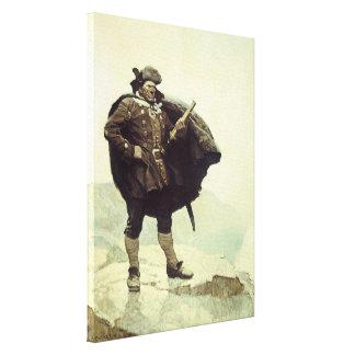 Vintage Pirates, Captain Bill Bones by NC Wyeth Canvas Print