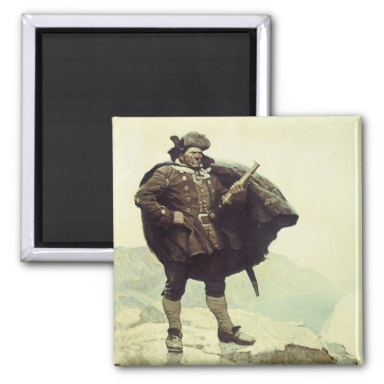 Vintage Pirates, Captain Bill Bones by NC Wyeth Magnet