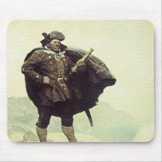 Vintage Pirates, Captain Bill Bones by NC Wyeth Mouse Pad
