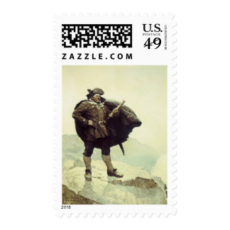 Vintage Pirates, Captain Bill Bones by NC Wyeth Stamp