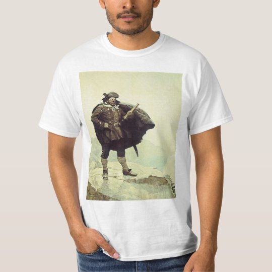 Vintage Pirates, Captain Bill Bones by NC Wyeth T-Shirt