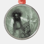 Vintage Pirates, Captain Goldsack by Howard Pyle Round Metal Christmas Ornament