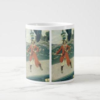 Vintage Pirates, Captain Keitt by Howard Pyle Large Coffee Mug