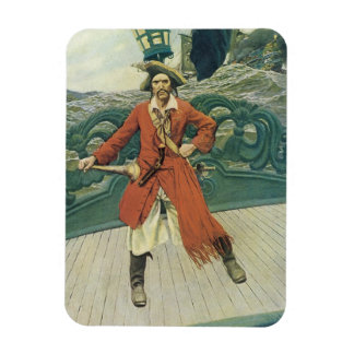 Vintage Pirates, Captain Keitt by Howard Pyle Magnet