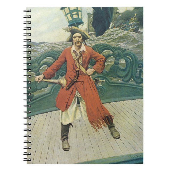 Vintage Pirates, Captain Keitt by Howard Pyle Notebook