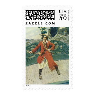 Vintage Pirates, Captain Keitt by Howard Pyle Postage