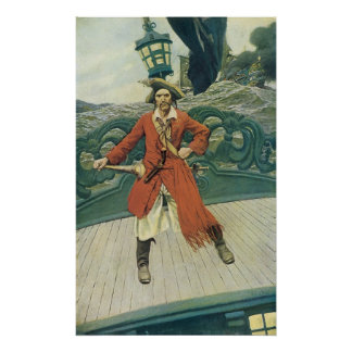 Vintage Pirates, Captain Keitt by Howard Pyle Poster