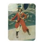 Vintage Pirates, Captain Keitt by Howard Pyle Rectangular Photo Magnet