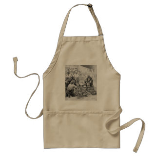 Vintage Pirates Counting their Treasures and Loot Adult Apron