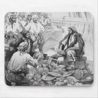 Vintage Pirates Counting their Treasures and Loot Mouse Pad