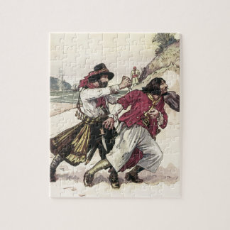Vintage Pirates, Duel till the Death on the Beach Jigsaw Puzzle