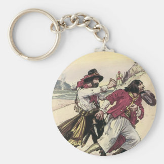 Vintage Pirates, Duel till the Death on the Beach Keychain
