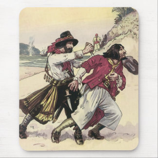 Vintage Pirates, Duel till the Death on the Beach Mouse Pad