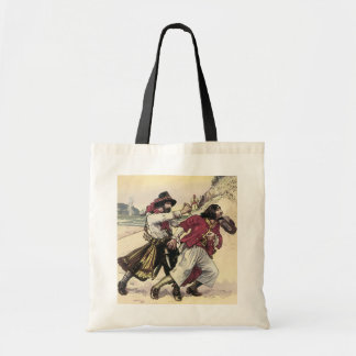 Vintage Pirates, Duel till the Death on the Beach Tote Bag