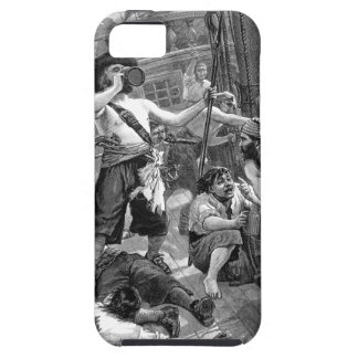 Vintage Pirates Fighting and Drinking on the Ship iPhone SE/5/5s Case