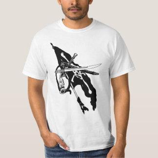 Vintage Pirates Flag, Jolly Roger Skull Crossbones T-Shirt