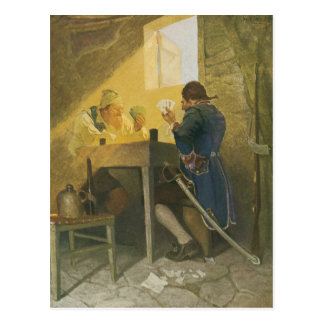 Vintage Pirates Gambling in Prison by NC Wyeth Postcard