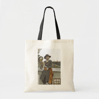 Vintage Pirates, Kidd on Deck of Adventure Galley Tote Bag