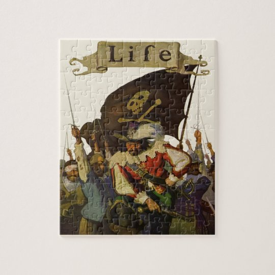 Vintage Pirates of Life 1921 Jigsaw Puzzle