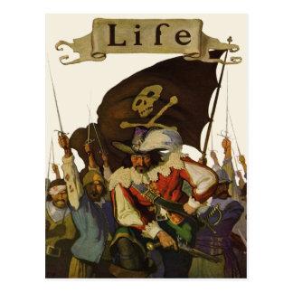 Vintage Pirates of Life 1921 Postcard