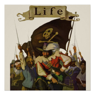 Vintage Pirates of Life 1921 Posters