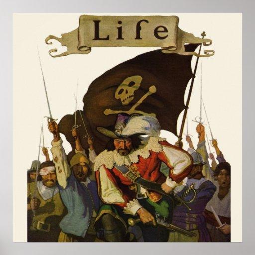 Vintage Pirates of Life 1921 Poster