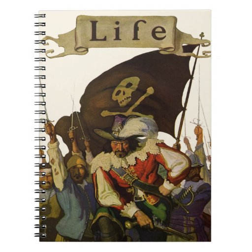 Vintage Pirates of Life 1921 Spiral Note Books