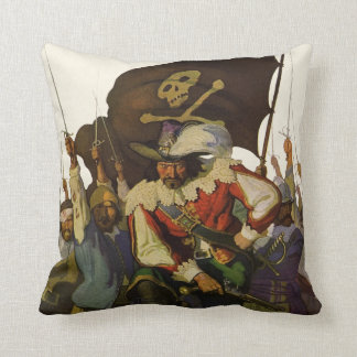 Vintage Pirates of Life 1921 Throw Pillow