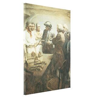 Vintage Pirates, Preparing for Mutiny by NC Wyeth Canvas Print