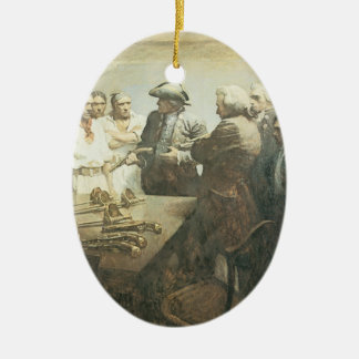 Vintage Pirates, Preparing for Mutiny by NC Wyeth Ceramic Ornament