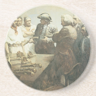 Vintage Pirates, Preparing for Mutiny by NC Wyeth Drink Coaster