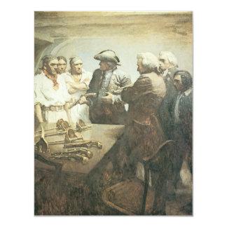 Vintage Pirates Preparing for the Mutiny, NC Wyeth 4.25x5.5 Paper Invitation Card