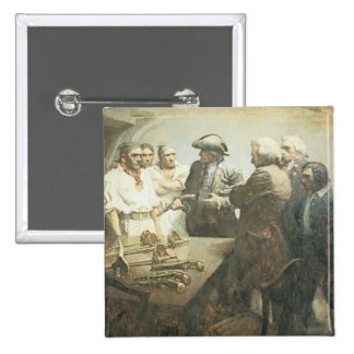 Vintage Pirates Preparing for the Mutiny, NC Wyeth Button