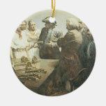 Vintage Pirates Preparing for the Mutiny, NC Wyeth Christmas Tree Ornaments