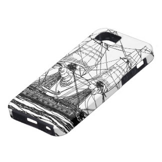 Vintage Pirates, Sketch of a 74 Gun Ship iPhone 5 Cover