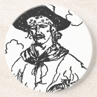 Vintage Pirates Sketch of a Captain by Howard Pyle Drink Coaster