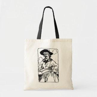 Vintage Pirates Sketch of a Captain by Howard Pyle Tote Bag
