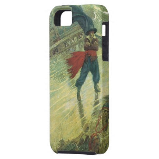 Vintage Pirates; The Flying Dutchman, Howard Pyle iPhone 5 Covers