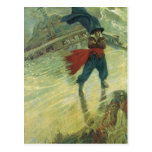 Vintage Pirates; The Flying Dutchman, Howard Pyle Postcard