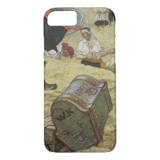 Vintage Pirates, William Kidd Burying Treasure iPhone 7 Case