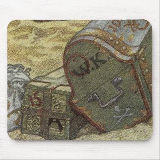 Vintage Pirates, William Kidd Burying Treasure Mouse Pad