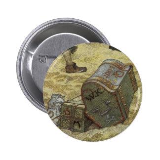 Vintage Pirates, William Kidd Burying Treasure Pinback Button