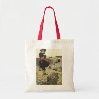 Vintage Pirates, William Kidd Burying Treasure Tote Bag